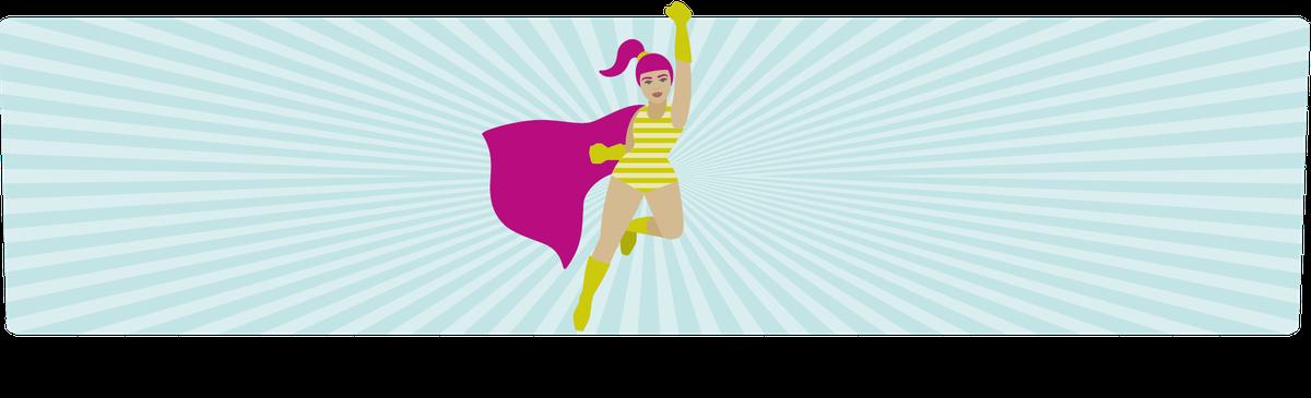 Eine Superheldin mit erhobener Faust als Symbolbild für Empowerment